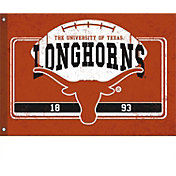 Evergreen Texas Longhorns Linen Estate Flag