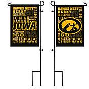 Evergreen Iowa Hawkeyes Fan Rule Garden Flag