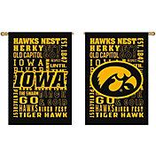 Evergreen Iowa Hawkeyes Fan Rule House Flag