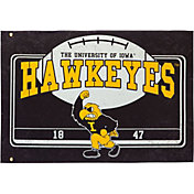 Evergreen Iowa Hawkeyes Linen Estate Flag
