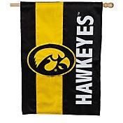 Evergreen Iowa Hawkeyes Embellish House Flag