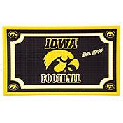 Evergreen Iowa Hawkeyes Embossed Door Mat