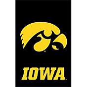 Evergreen Iowa Hawkeyes Applique Garden Flag