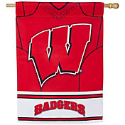 Evergreen Wisconsin Badgers Jersey House Flag