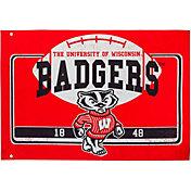 Evergreen Wisconsin Badgers Linen Estate Flag