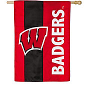 Evergreen Wisconsin Badgers Embellish House Flag