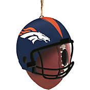 Evergreen Denver Broncos Helmet Birdhouse