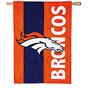 Evergreen Denver Broncos Embellish House Flag