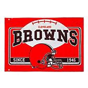 Evergreen Cleveland Browns Linen Estate Flag