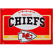 Evergreen Kansas City Chiefs Linen Estate Flag