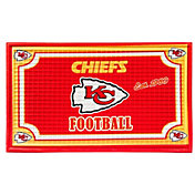 Evergreen Kansas City Chiefs Embossed Door Mat