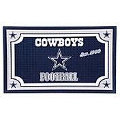 Evergreen Dallas Cowboys Embossed Door Mat