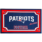 Evergreen New England Patriots Embossed Door Mat