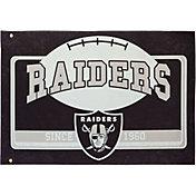 Evergreen Oakland Raiders Linen Estate Flag