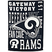 Evergreen Los Angeles Rams Fan Rule Garden Flag