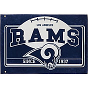 Evergreen Los Angeles Rams Linen Estate Flag
