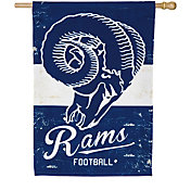 Evergreen Los Angeles Rams Vintage House Flag