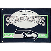 Evergreen Seattle Seahawks Linen Estate Flag