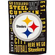 Evergreen Pittsburgh Steelers Fan Rule Garden Flag