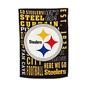 Evergreen Pittsburgh Steelers Fan Rule House Flag