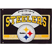 Evergreen Pittsburgh Steelers Linen Estate Flag