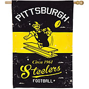 Evergreen Pittsburgh Steelers Vintage House Flag