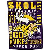 Evergreen Minnesota Vikings Fan Rule Garden Flag