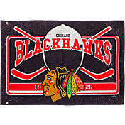 Evergreen Chicago Blackhawks Linen Estate Flag