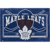 Evergreen Toronto Maple Leafs Linen Estate Flag