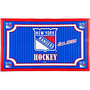 Evergreen New York Rangers Embossed Door Mat