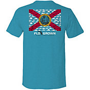 FloGrown Men's Multi Fish Flag Graphic T-Shirt