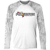 FloGrown Men's Raglan Scales Performance Long Sleeve T-Shirt