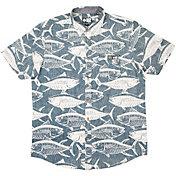 Salty Crew Longline Woven Short Sleeve Shirt