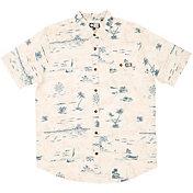 Salty Crew Men's Seafarer Woven Short Sleeve Shirt