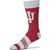 For Bare Feet Indiana Hoosiers Logo Madness Crew Socks