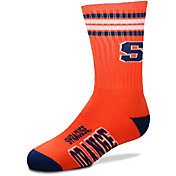 For Bare Feet Youth Syracuse Orange 4-Stripe Deuce Crew Socks