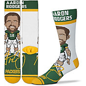 For Bare Feet Youth Green Bay Packers Aaron Rodgers Socks