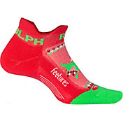 Feetures! Elite Lite Cushion Run Rudolph No Show Socks