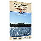 Fishing Hot Spots Coralville Reservoir Fishing Map