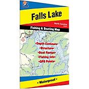 Fishing Hot Spots Falls Lake Fishing Map