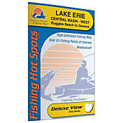 Fishing Hot Spots Lake Erie - Central Basin West Fishing Map (Ruggles Beach to Geneva, Ohio)