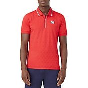 FILA Men's Heritage Tennis Jacquard Polo