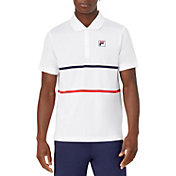 FILA Men's Heritage Tennis Striped Polo