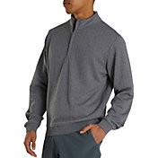 FootJoy Men's Drop Needle Gathered Bottom ½ Zip Golf Pullover