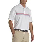 FootJoy Men's Lisle Chestband Golf Polo