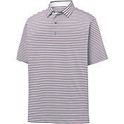 FootJoy Men's Lisle Classic Stripe Short Sleeve Golf Polo