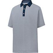 FootJoy Men's Lisle Foulard Print Short Sleeve Golf Polo