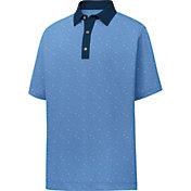 FootJoy Men's Lisle Multidot Print Short Sleeve Golf Polo