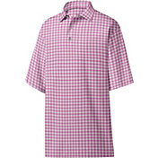 FootJoy Men's Lisle Plaid Print Golf Polo