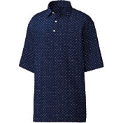 FootJoy Men's Lisle Batik Circle Print Golf Polo